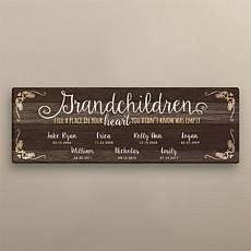 MBM Grandchildren Personalized 9x27 Canvas