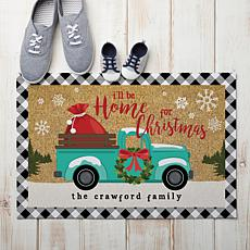MBM Home For Christmas Personalized Doormat