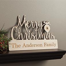 MBM Merry Christmas Personalized Wood Plaque