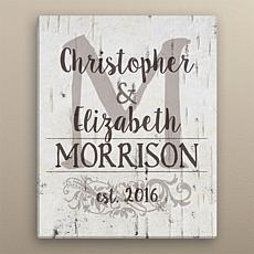MBM Perfect Couple 16x20 Personalized Canvas