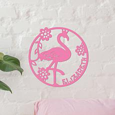 MBM Pink Flamingo Wood Plaque