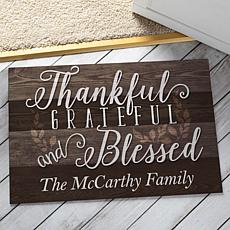 MBM Thankful, Grateful and Blessed Personalized Doormat