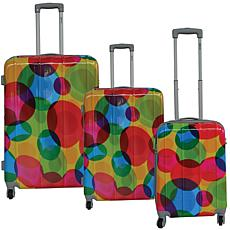 McBrine 3-piece Printed Hardside Luggage Set