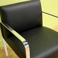 Meg Black Leather Chair