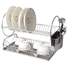 Mega Chef Chrome Plated Two Shelf Dish Rack