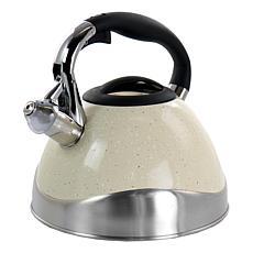 MegaChef 3-Liter Stovetop Whistling Kettle in Light Tan Speckle