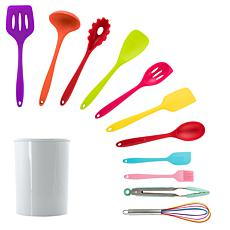 MegaChef Mulit-Color Silicone Cooking Utensils, Set of 12