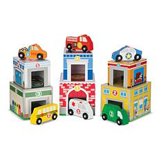 Melissa & Doug Nesting and Sorting Buildings and Vehicles