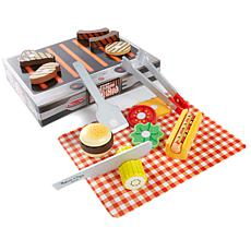 Melissa & Doug Wooden Food BBQ Grill Set