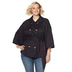 Melissa McCarthy Seven7 Double-Breasted Reversible Cape