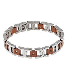 Men's 0.15ctw Diamond Chocolate Link Bracelet