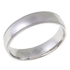 Men's 14K Gold Polished Milgrain 5mm Wedding Band