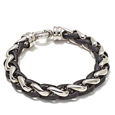 "Men's 2-Tone Stainless Steel 8-1/2"" Bracelet"