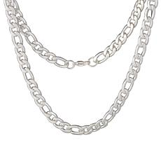 """Men's 24"""" Stainless Steel Figaro Chain Necklace"""