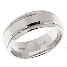 Men's Beveled 8mm Satin-Finish Band Ring