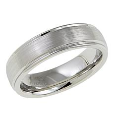 Men's Brushed Cobalt 7mm Beveled Band Ring