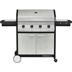Meridian 4 Propane BBQ Grill w/ 4 Burners, Cart and Side Tables