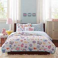Mi Zone Kids Fluttering Farah Coverlet Set T