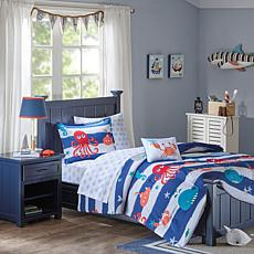 Mi Zone Kids Sealife Complete Bed and Sheet Set Blue Twin