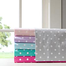 Mi Zone Polka Dot Cotton Sheet Set - Purple - Full