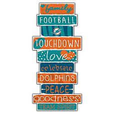 """Miami Dolphins Celebrations Stack 24"""" Sign"""