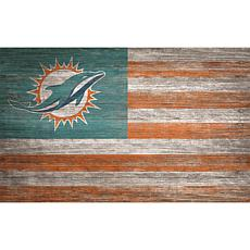 Miami Dolphins Distressed Flag 11x19