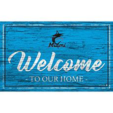 """Miami Marlins Team Color Welcome Sign - 11x19"""""""