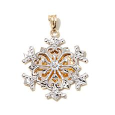 Michael Anthony™ 10K Gold 2-Tone Snowflake Pendant