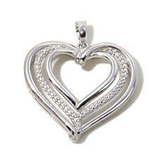 Michael Anthony™ Diamond-Accented Silver Heart Pendant