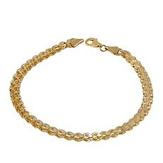 "Michael Anthony Jewelry® 10K Double Mirror Link 7-1/2"" Bracelet"