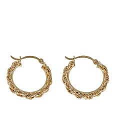 Michael Anthony Jewelry® 10K Double Rope Chain Hoop Earrings