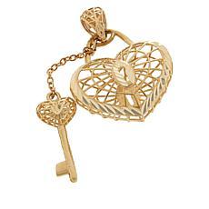 Michael Anthony Jewelry® 10K Heart Lock & Key Pendant