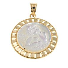 Michael Anthony Jewelry® 10K Mother-of-Pearl Cherub Pendant