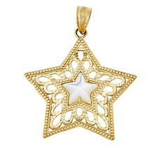 Michael Anthony Jewelry® 10K Mother-of-Pearl Star Pendant