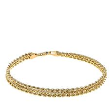 "Michael Anthony Jewelry® 10K Popcorn Twisted Rope 7-1/2"" Bracelet"