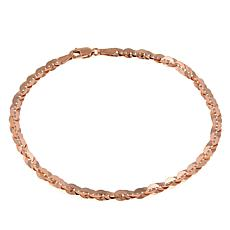"Michael Anthony Jewelry® 10K Rose Gold 3.5mm Cleo Link 7.5"" Bracelet"