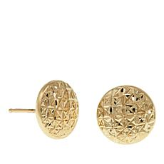 Michael Anthony Jewelry® 10K Round Diamond-Cut Button Earrings