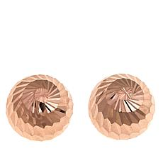 Michael Anthony Jewelry® 10K Swirl Stud Earrings - Rose Gold