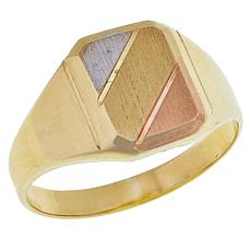 Michael Anthony Jewelry® 10K Tri-Color Gold Signet Ring