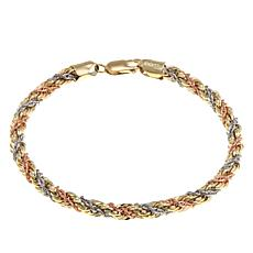 Michael Anthony Jewelry® 10K Tri-Color Rope Bracelet