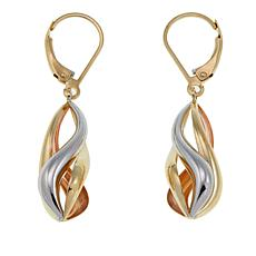 Michael Anthony Jewelry® 10K Tri-Color Swirl Drop Earrings
