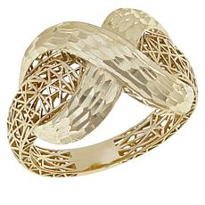 Michael Anthony Jewelry® 10K Yellow Gold Diamond-Cut X-Design Ring