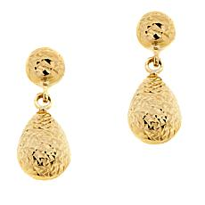 Michael Anthony Jewelry® 10K Yellow Gold Textured Teardrop Earrings