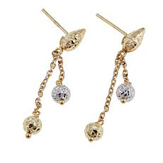 Michael Anthony Jewelry® 14K 2-Tone Bead Drop Earrings