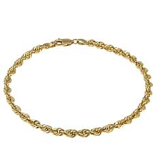 "Michael Anthony Jewelry® 14K 4mm Glitter Rope Chain 8"" Bracelet"