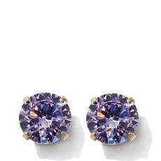 Michael Anthony Jewelry® 14K Kids Alexandrite-Color CZ Stud Earrings