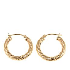 Michael Anthony Jewelry® 14K Polished Swirl Hoop Earrings