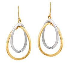 Michael Anthony Jewelry® 14K Two-Tone Double Oval Drop Earrings
