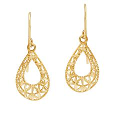 Michael Anthony Jewelry® 14K Yellow Gold Filigree Teardrop Earrings