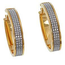Michael Anthony Jewelry® Goldtone Glitter Hoop Earrings